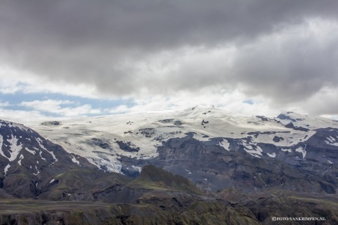 Eyjafjallajokul gletsjer
